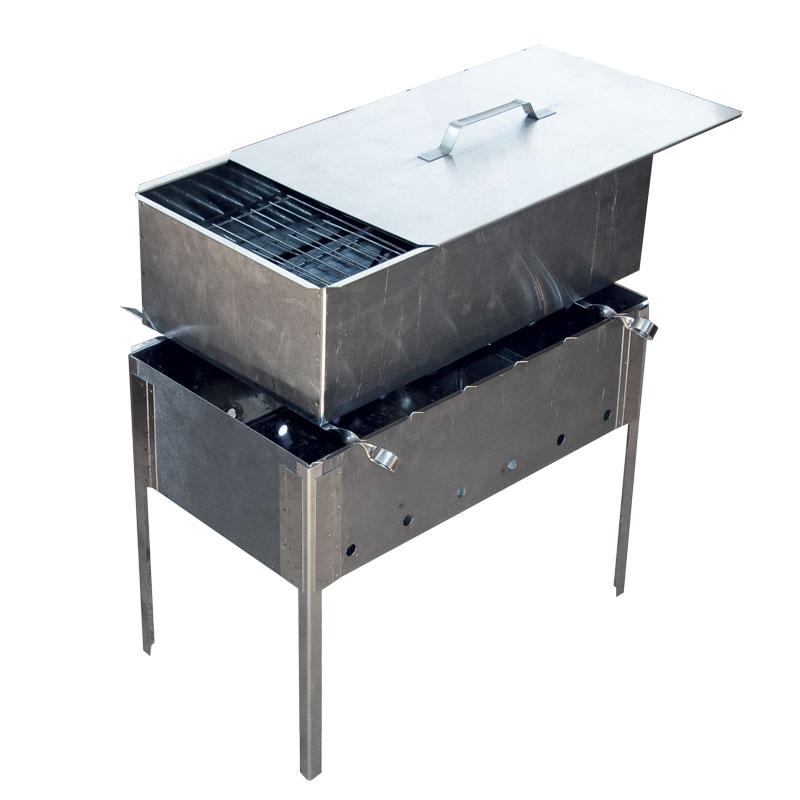 Мангал-коптильня 480х280х450 (сталь 0,8)