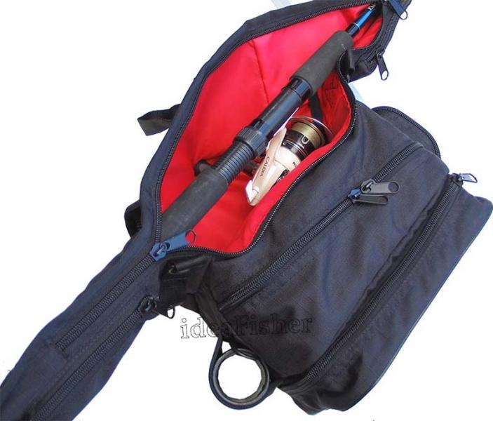 Чехол для удилища - поясная сумка STAKAN Stradivari Черный