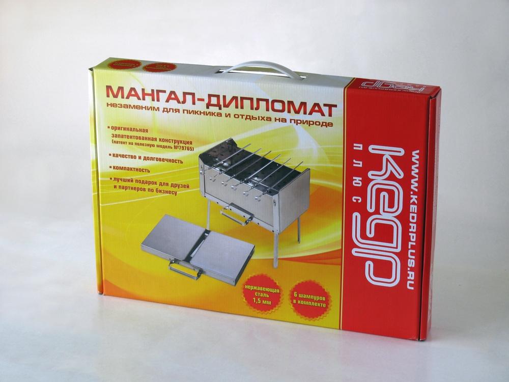 Мангал-дипломат 410х280x210 (сталь 1.5)