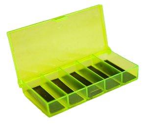 Коробка СВ-01 с магнитами (100 х 50 х 17), цвет желто-зеленый