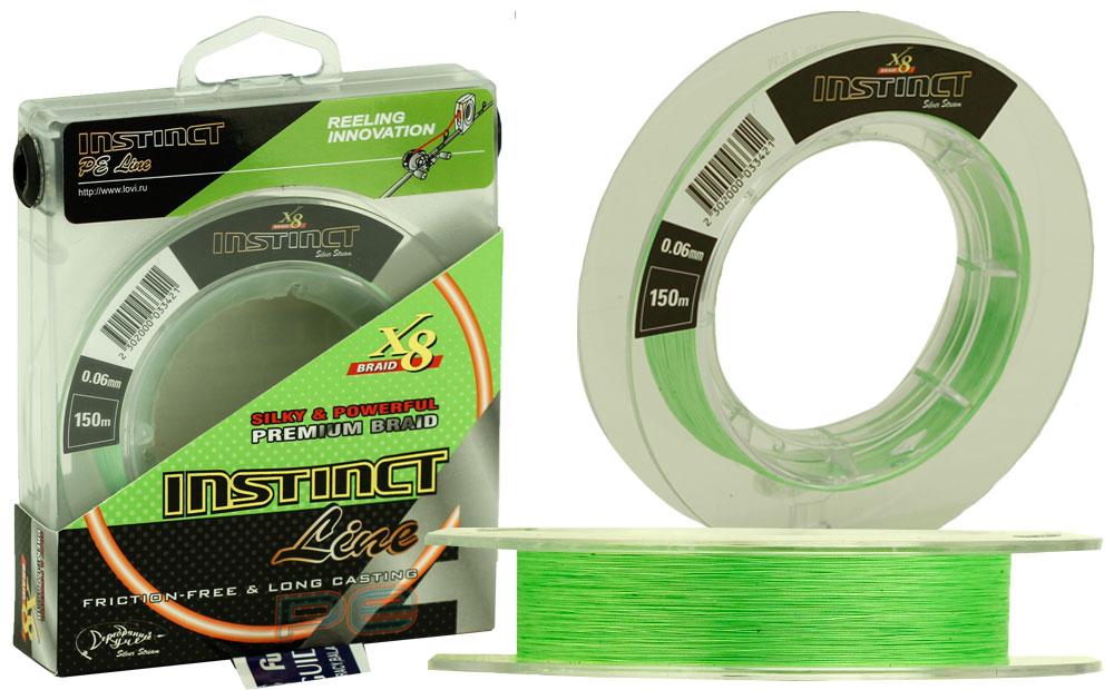 Плетеная леска INSTINCT Line 150 (0,18) зеленый флю