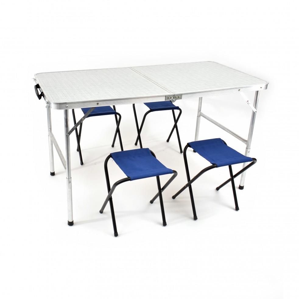 Стол раскладной + 4 табурета Кедр TABS-04