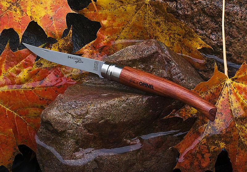 Нож филейный Opinel №12 VRI Folding Slim Bubinga (нержавеющая сталь)