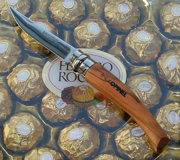 Нож филейный Opinel №12 VRI Folding Slim Olivewood (нержавеющая сталь)