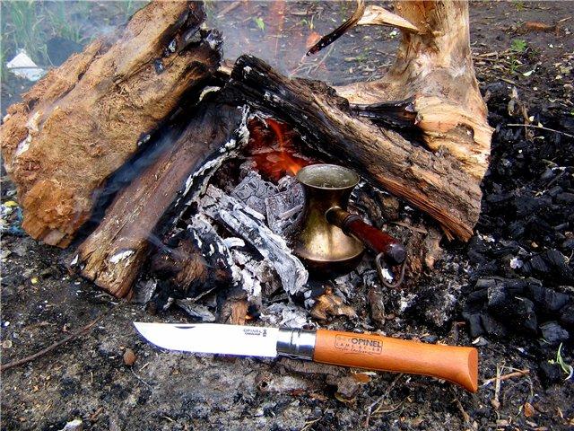 Нож Opinel №8 VRN Carbon Tradition (углеродистая сталь)