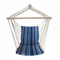 Гамак-кресло с деревянными перекладинами (голубой)