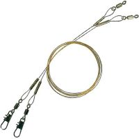 Поводок металлический Effzett Spin Leader 7х7, 40 см, 15 кг (2 шт)