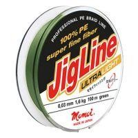 Плетеная леска JIGLINE ULTRA LIGHT 100 м (0.04 мм) 2.4 кг