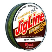 Плетеная леска JIGLINE FAST SINK MX8 100 м (0.18 мм) 12 кг