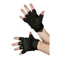 Перчатки тактические со вставкой, размер L, black (002)