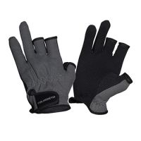 Перчатки TSURIBITO SFG-8016 (три открытых пальца) серые