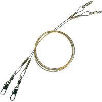 Поводок металлический Effzett Spin Leader 1х7, 35 см, 13,6 кг (2 шт)