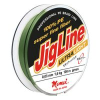 Плетеная леска JIGLINE ULTRA LIGHT 100 м (0.03 мм) 1.6 кг