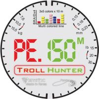 Плетеная леска PE Troll Hunter MultiColor 150 м (0.23 мм) 15.5 кг