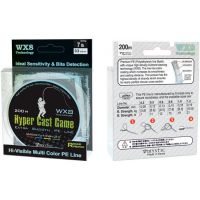 Плетеная леска PE Hyper Cast Game 200 м (0.13 мм) 6.5 кг