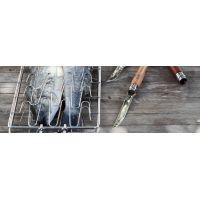 Нож филейный Opinel №10 VRI Folding Slim Bubinga (нержавеющая сталь)