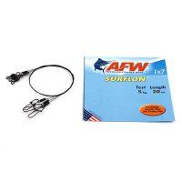 Поводок оснащенный AFW SURFLON BLACK 1Х7 длина 20 см, 5 кг (3 шт)