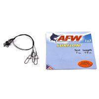 Поводок оснащенный AFW SURFLON BLACK 1Х7 длина 15 см, 7 кг (3 шт)