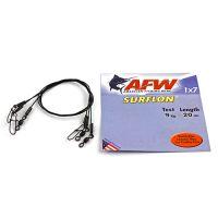 Поводок оснащенный AFW SURFLON BLACK 1Х7 длина 20 см, 9 кг (3 шт)