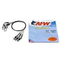 Поводок оснащенный AFW SURFLON BLACK 1Х7 длина 20 см, 14 кг (3 шт)