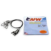 Поводок оснащенный AFW SURFLON BLACK 1Х7 длина 20 см, 20 кг (3 шт)