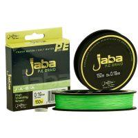 Плетеная леска JABA 150 (0,12) зеленый флю