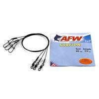 Поводок оснащенный AFW SURFLON BLACK 1Х7 длина 25 см, 20 кг (3 шт)