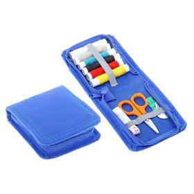Набор для шитья в футляре, 10 предметов, синий