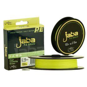 Плетеная леска JABA 150 (0,12) желтый флю